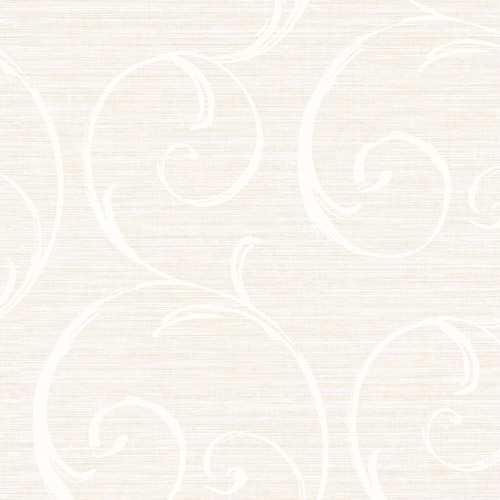 LD82010 Seabrook Lux Decor Notting Hill Scroll Wallpaper Light Gray