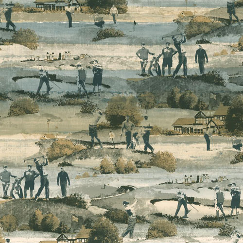 MW9232 Carey Lind Menswear Old CourseSure Strip Wallpaper Derby Green