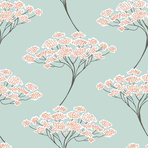 2671-22407 Brewster Kenneth James Azmaara Banyan Tree Wallpaper Light Blue