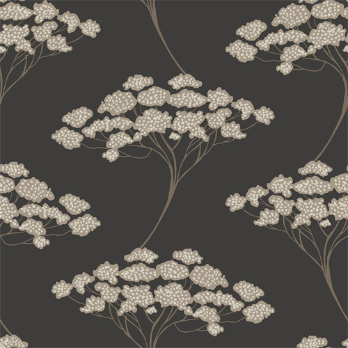 2671-22411 Brewster Kenneth James Azmaara Banyan Tree Wallpaper Black