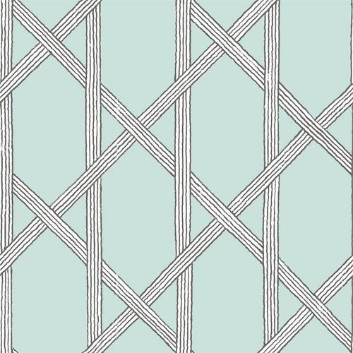 2671-22420 Brewster Kenneth James Azmaara Mandara Trellis Wallpaper Light Blue