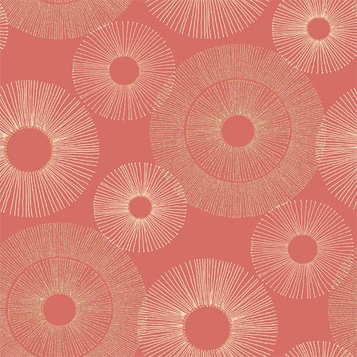2671-22450 Brewster Kenneth James Azmaara Eternity Sparkle Wallpaper Coral
