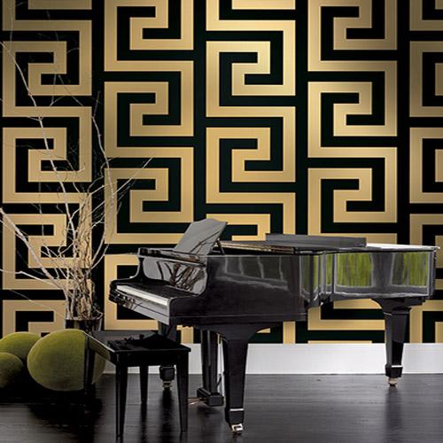 Vogue Greek Key Wallpaper Lelands Wallpaper
