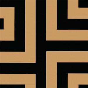 NE50000 Seabrook Nouveau Luxe Vogue Greek Key Wallpaper Black Gold