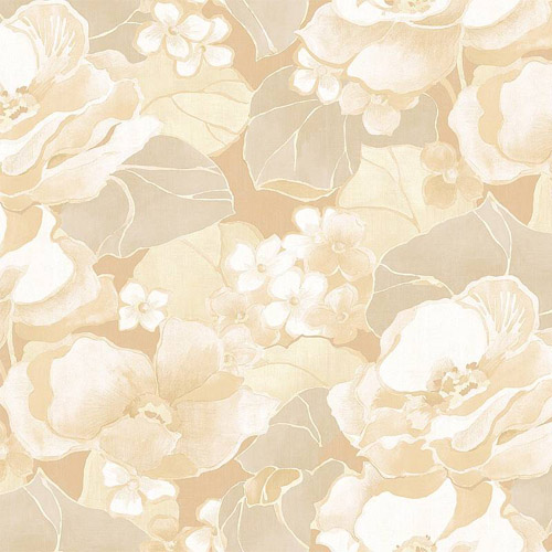 NE50505 Seabrook Nouveau Luxe Adorn Floral Wallpaper Cream Beige