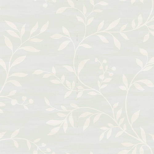 NE50802 Seabrook Nouveau Luxe Couture Leaf Scroll Wallpaper Pale Aqua