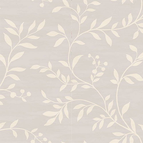 NE50808 Seabrook Nouveau Luxe Couture Leaf Scroll Wallpaper Platinum