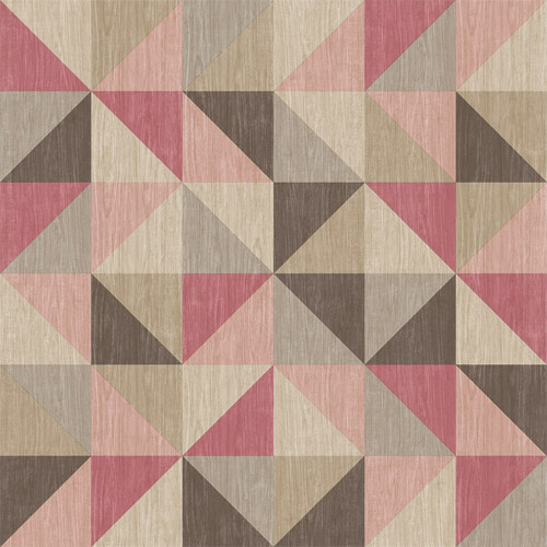 2697-22622 Brewster Wallcoverings Geometrie Puzzle Geometric Wallpaper Pink