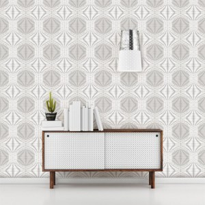 2697-22628 Brewster Wallcoverings Geometrie Optic Geometric Wallpaper Roomset