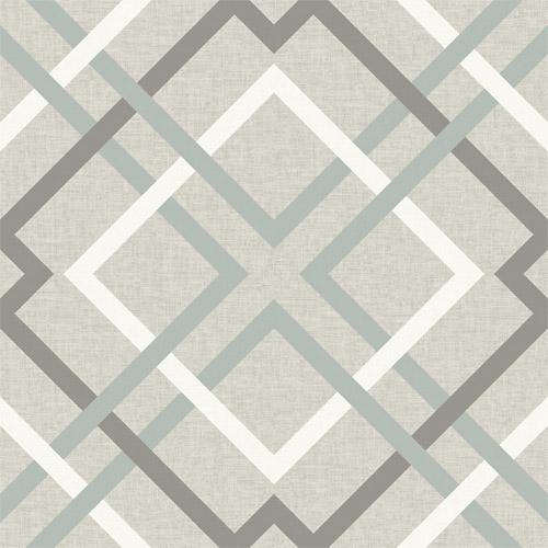 2697-22649 Brewster Wallcoverings Geometrie Saltire Lattice Wallpaper Taupe