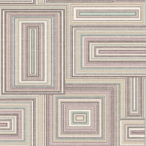 LG90509 Seabrook Wallcoverings Lugano Attersee Squares Wallpaper Purple