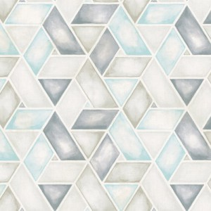 LG91302 Seabrook Wallcoverings Lugano Kentmere Geo Wallpaper Blue
