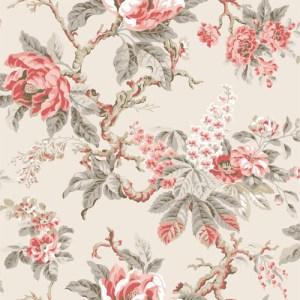 PV2920 York Wallcoverings Ronald Redding Legacy Vintage Garden Wallpaper Persimmon