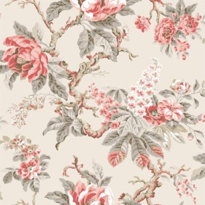 PV2920 York Wallcoverings Ronald Redding Legacy Vintage Garden Wallpaper Persimmon