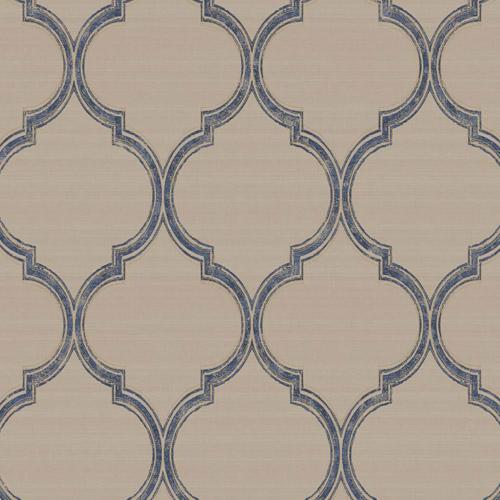 PV2924 York Ronald Redding Legacy Silk Trellis Wallpaper Navy