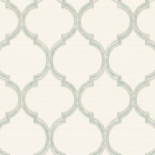 PV2926 York Ronald Redding Legacy Silk Trellis Wallpaper Oyster