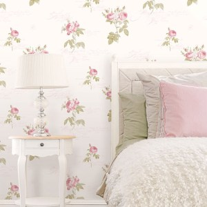 Patton Wallcoverings Rose Garden 2 Rose Script Wallpaper Roomset
