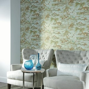 York Ronald Redding Legacy Fragrant Garden Scenic Wallpaper Roomset