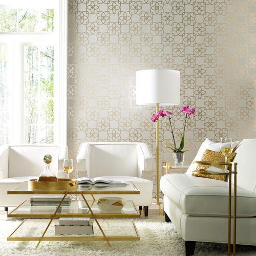 York Wallcoverings Dazzling Dimensions Wallpaper Roomset