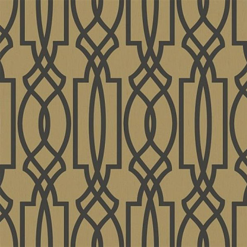 TR60005 Seabrook Wallcoverings Trois Iron Work Wallpaper Gold
