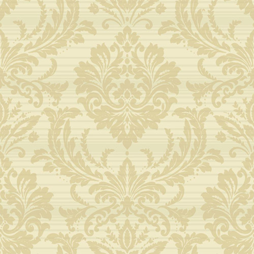 TR60103 Seabrook Wallcoverings Trois Acanthus Damask Wallpaper Cream