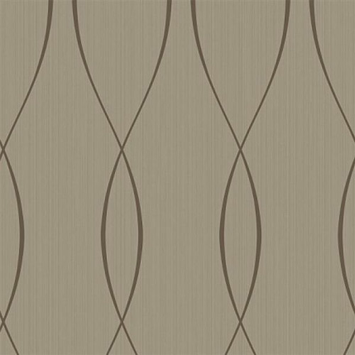 TR60706 Seabrook Wallcoverings Trois Wavelength Wallpaper Brown