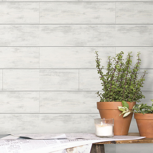 Magnolia Home Shiplap Wallpaper by Joanna Gaines York