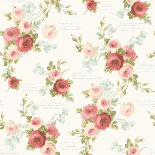 MH1525 York Wallcoverings Joanna Gaines Magnolia Home Heirloom Rose Wallpaper Coral