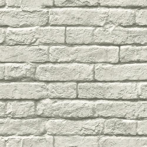 MH1556 York Wallcoverings Joanna Gaines Magnolia Home Brick and Mortar Wallpaper Light Gray