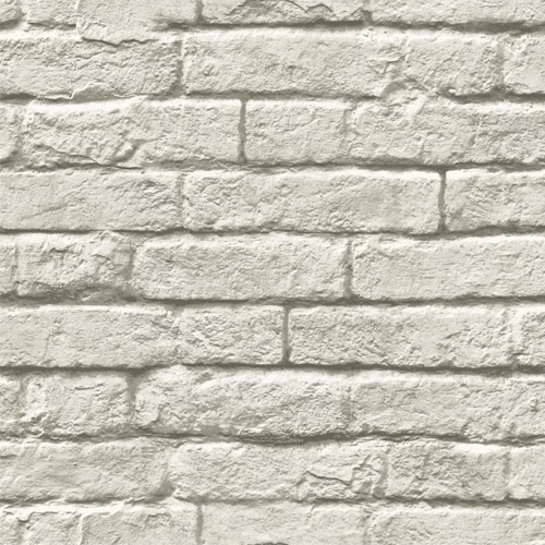 MH1556 York Wallcoverings Joanna Gaines Magnolia Home Brick and Mortar Wallpaper Light Gray