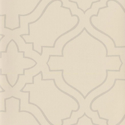 RRD7253 York Wallcoverings Ronald Redding Atelier Arabesqe Wallpaper Cream