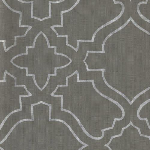 RRD7255 York Wallcoverings Ronald Redding Atelier Arabesque Wallpaper Gray