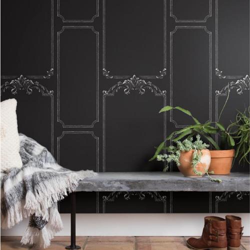 york wallcoverings magnolia home. york wallcoverings joanna gaines magnolia home chalkboard wallpaper roomset lelands