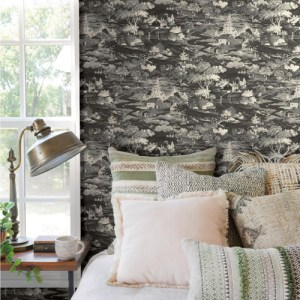 York Wallcoverings Joanna Gaines Magnolia Home Homestead Wallpaper Roomset