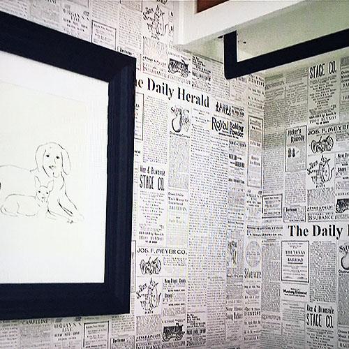 Newsprint Wallpaper Lelands Wallpaper