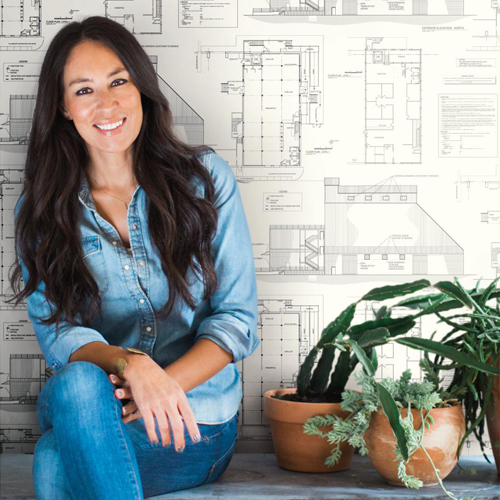 York Wallcoverings Joanna Gaines Magnolia Home The Market Wallpaper Roomset 2 Cover Photo