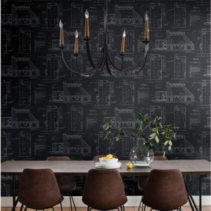 York Wallcoverings Joanna Gaines Magnolia Home The Market Wallpaper Roomset