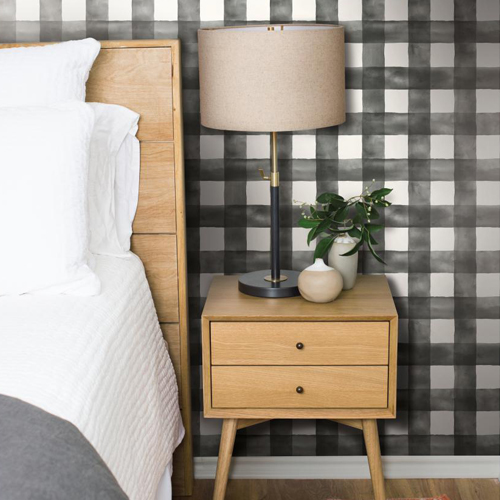 york wallcoverings magnolia home. york wallcoverings joanna gaines magnolia home watercolor check wallpaper roomset w