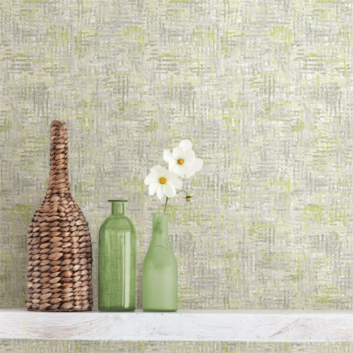 2718-004027 Brewster Wallcoverings Texture Trends 2 Avalon Weave Wallpaper Roomset