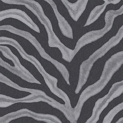 G67492 Patton Wallcoverings Natural FX Zebra Skin Wallpaper Gray