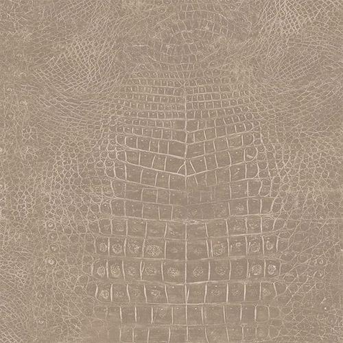 G67503 Patton Wallcoverings Natural FX Crocodile Skin Wallpaper Taupe