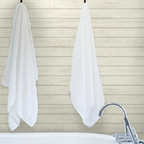 York Wallcoverings Joanna Gaines Magnolia Home Skinnylap Wallpaper White Room Set