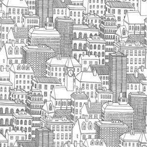 2716-23806 Brewster Wallcoverings Eclipse Limelight City Wallpaper White