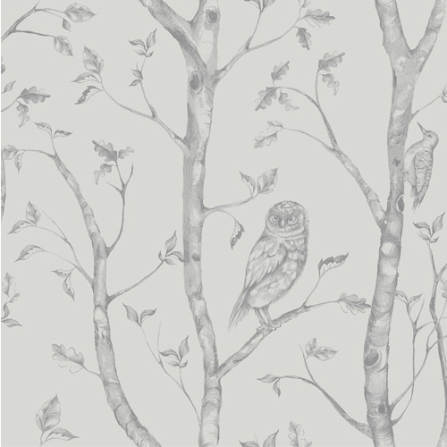2716-23861 Brewster Wallcoverings Eclipse Neptune Forest Wallpaper Gray