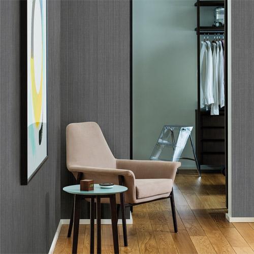 Brewster Wallcoverings Texturall 3 Jayne Vertical Shimmer Wallpaper Roomset