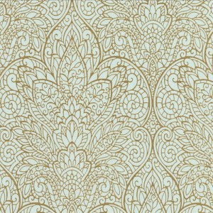 CD4008 York Wallcoverings Candice Olson Decadence Paradise Wallpaper Ice Blue
