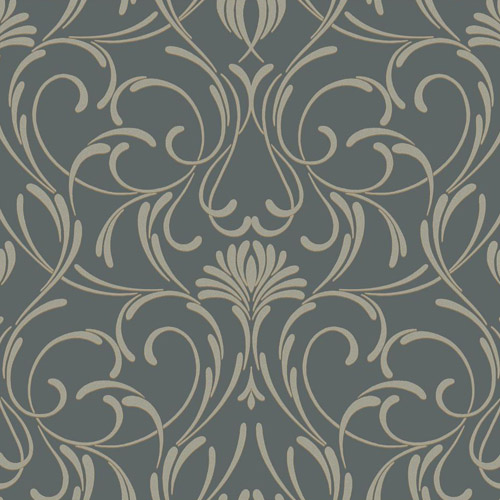 CD4091 York Wallcoverings Candice Olson Decadence Amour Wallpaper Charcoal