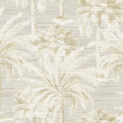 PS40005 Brewster Wallcoverings Kenneth James Palm Springs Dream Of Palm Trees Wallpaper Beige
