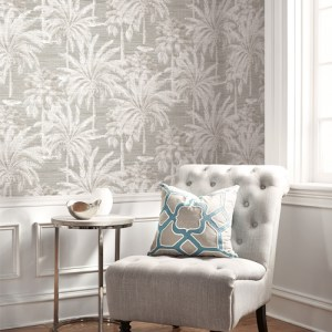 Brewster Wallcoverings Kenneth James Palm Springs Dream Of Palm Trees Wallpaper Roomset