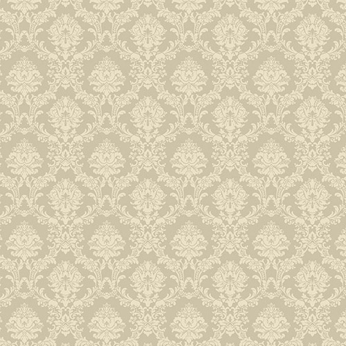 SD36137 Patton Wallcoverings Stripes and Damasks 3 Miniature Damask Wallpaper Tan